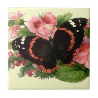 Jardim floral da lembrança do azulejo da borboleta