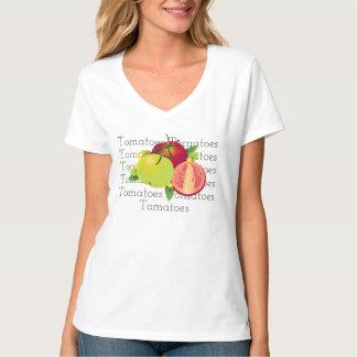 Jardim floral vegetal botânico da fruta dos camiseta