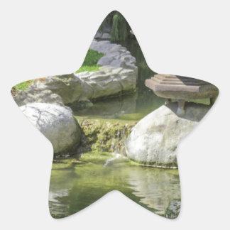 Jardim japonês 1 adesivo em forma de estrela