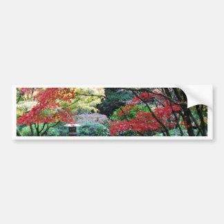 Jardim japonês adesivo para carro