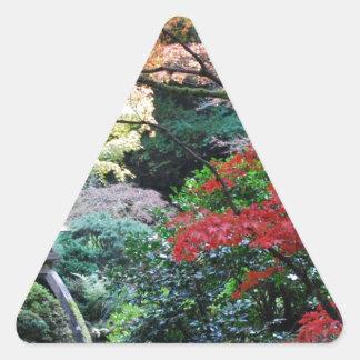 Jardim japonês adesivo triangular