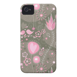 Jardim lunático na caixa corajosa cor-de-rosa de capa para iPhone