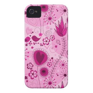 Jardim lunático na caixa corajosa cor-de-rosa de capas para iPhone 4 Case-Mate