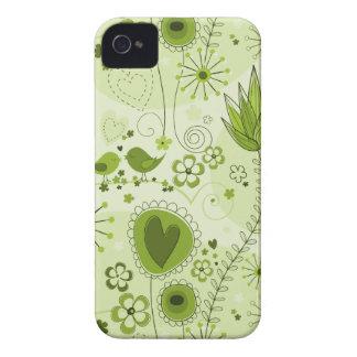 Jardim lunático na caixa verde do iPhone 4/4S Capas Para iPhone 4 Case-Mate