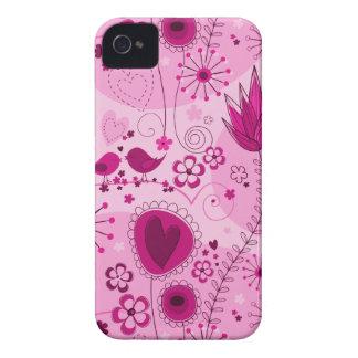 Jardim lunático no caso cor-de-rosa do iPhone 4/4S Capinhas iPhone 4