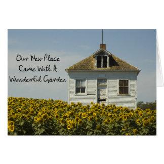 Jardim maravilhoso - mudança de endereço engraçada cartão comemorativo
