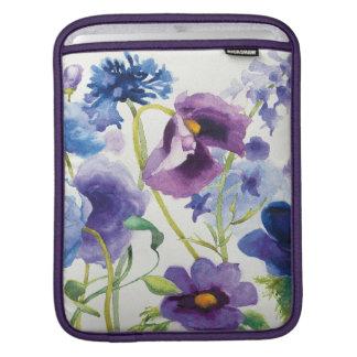Jardim misturado azul e roxo bolsa de iPad