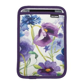 Jardim misturado azul e roxo luva iPad mini