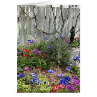 Jardim no cartão do primavera 1