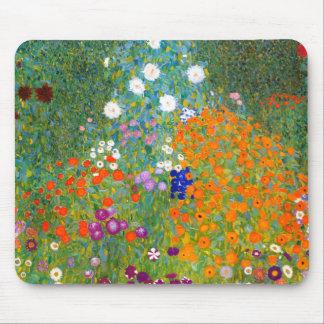 Jardim pelo vintage de Gustavo Klimt floral Mouse Pad