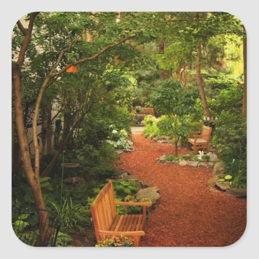 fotos jardim quadrado:Jardim pequeno criativo adesivo quadrado