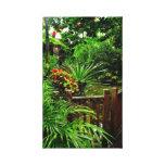 Jardim tropical impressão esticado das canvas impressão de canvas esticada
