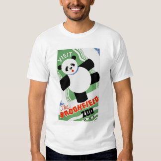 Jardim zoológico de Brookfield da panda WPA 1938 Tshirts