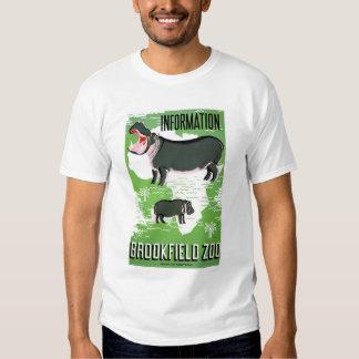 Jardim zoológico de Brookfield do hipopótamo WPA T-shirts