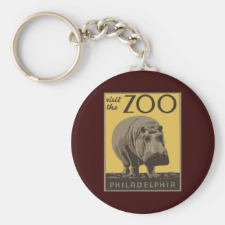 Jardim zoológico de Philadelphfia Chaveiro