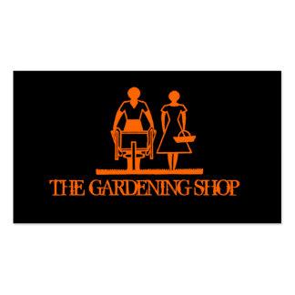 Jardinagem à moda do preto cartão de visita