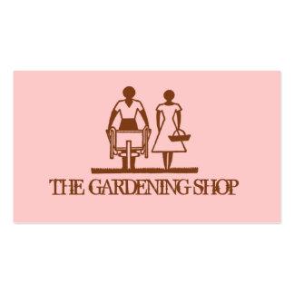 Jardinagem cor-de-rosa à moda do primavera do cartão de visita