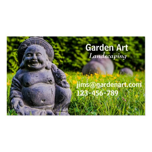 Jardinagem freelance ajardinando da arte do jardim modelos cartão de visita