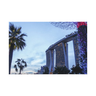 Jardine pela baía, árvores futuras de Singapore Impressão Em Canvas