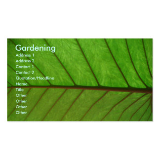 Jardineiro Cartões De Visitas
