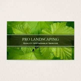 Jardineiro/folha ajardinar, cartão de visita da