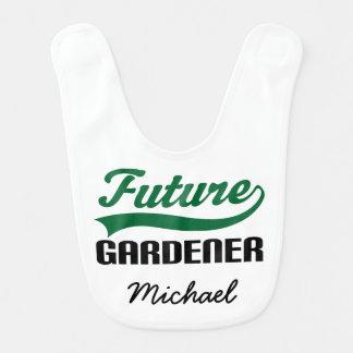 Jardineiro futuro babador personalizado do bebê