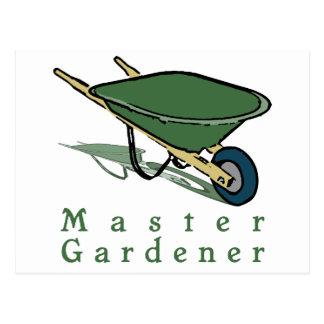Jardineiro mestre cartão postal