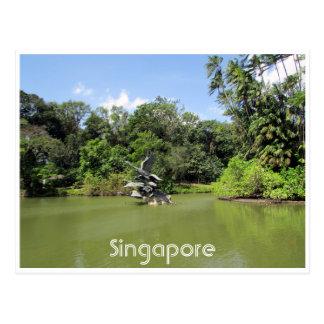 jardins botânicos de singapore cartão postal