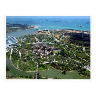 jardins da baía de singapore cartão postal