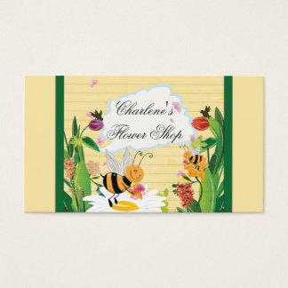 Jardins de flores dos zangões cartão de visitas