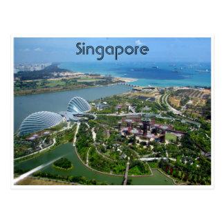 jardins de singapore cartao postal