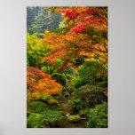 Jardins japoneses no outono em Portland, Oregon 2 Posters