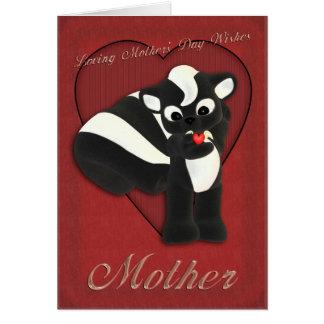 Jaritataca bonito do cartão do dia das mães, serin