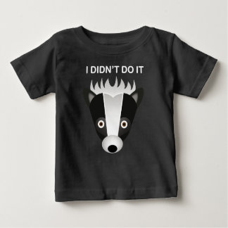 Jaritataca - t-shirt fino do jérsei do bebê