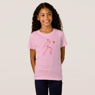 Jarro cor-de-rosa do softball da fita camiseta