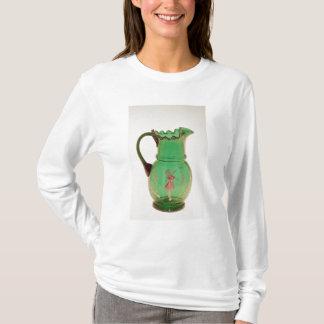 Jarro verde de Mary Gregory com esmalte ateado Camiseta