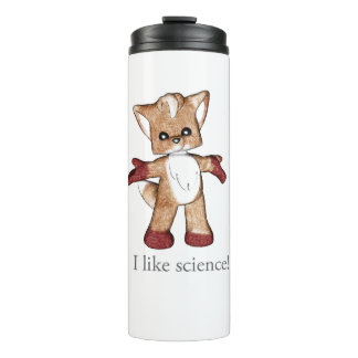 Jaspe a caneca térmica do Fox eu gosto da ciência!
