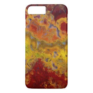 Jaspe vermelho e amarelo de Crayloa Capa iPhone 8 Plus/7 Plus