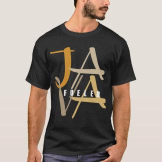 Java abasteceu o t-shirt escuro básico camiseta