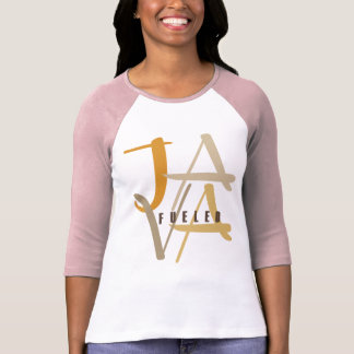 Java abasteceu senhoras 3/4 de Raglan da luva T-shirts