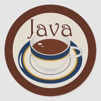 Java Adesivo Em Formato Redondo