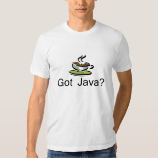 Java obtido? t-shirts
