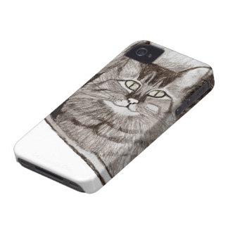 Jaz na janela - caixa de Blackberry do gato Capinha iPhone 4