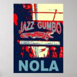 Jazz e Gumbo de NOLA Posters