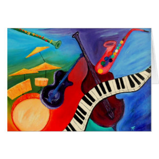 Jazz ele cartões do abstrato