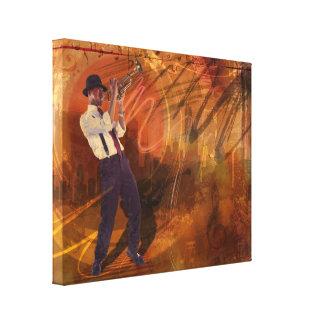 Jazz NRG Impressão De Canvas Envolvida