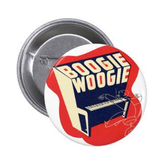 Jazz retro de Woogie da dança do vintage clássico Bóton Redondo 5.08cm