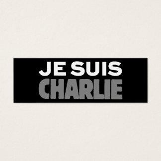 Je Suis Charlie - eu sou preto de Charlie Cartão De Visitas Mini