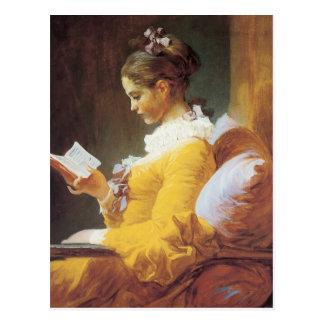 Jean-Honore Fragonard o leitor Cartão Postal