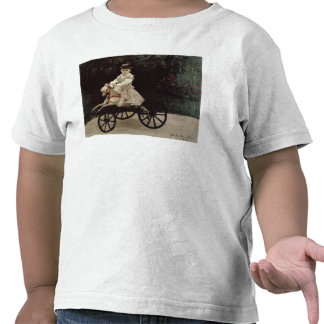 Jean Monet em seu cavalo do passatempo 1872 Camisetas